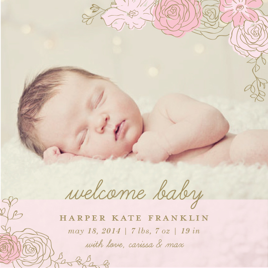 birth announcements - Floral by designedbyjaclyn