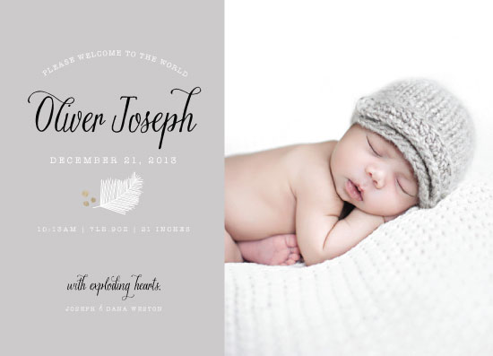 birth announcements - Winter Solstice by Penelope Poppy
