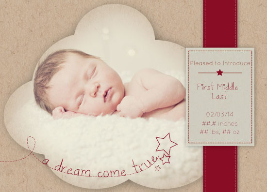 birth announcements - A Dream Come True by Ashley Michel