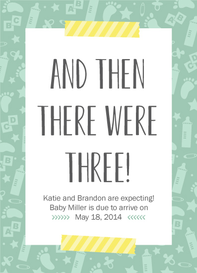 birth announcements - And Then by Stephanie Budd Design