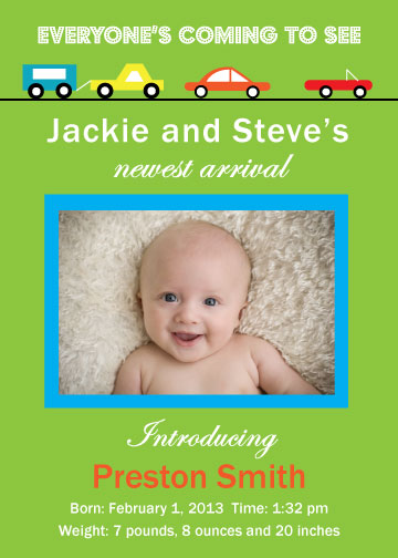 birth announcements - Everyone's Coming to See by Rosewater Designs