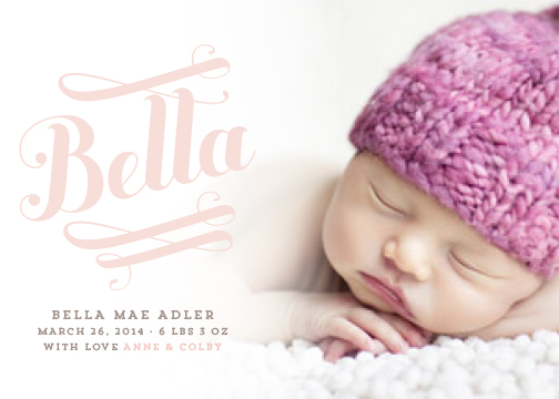 birth announcements - Bella by Jody Wody
