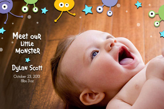 birth announcements - our little monster by Maureen Masters