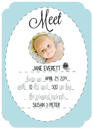 birth announcements - We'd like to introduce ... by Natascha Safarik