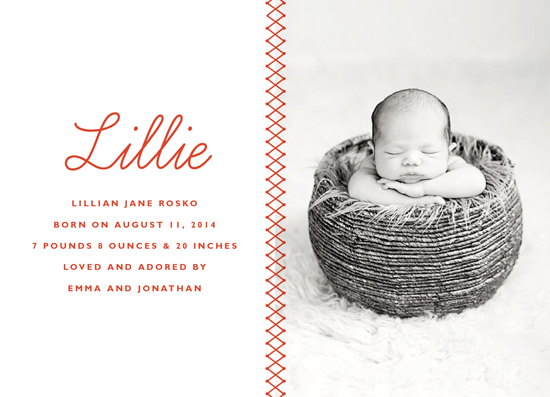 birth announcements - Sweet Stitch by Oscar & Emma