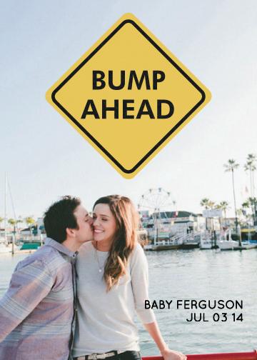 birth announcements - Bump Ahead by Sara Heilwagen