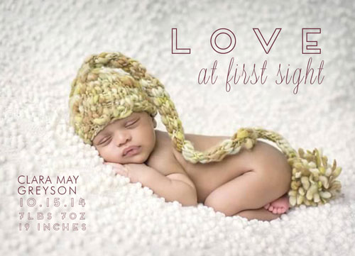 birth announcements - Love at First Sight - Minimalist by Barbara Caruso