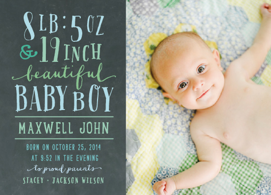 birth announcements - height and weight by Rebecca Bowen