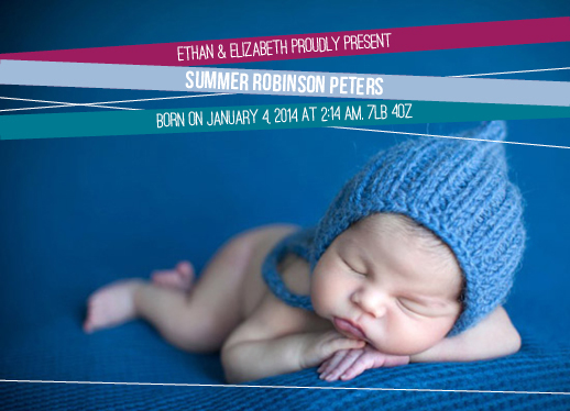 birth announcements - Bright Ribbons by selk