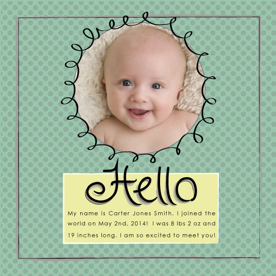 birth announcements - Excited to Meet You by Renee Long