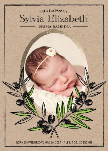 birth announcements - Prima Bambina by marc david rapoza