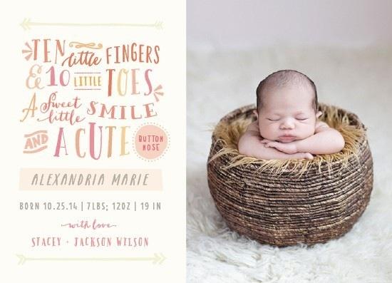 birth announcements - cute by Rebecca Bowen