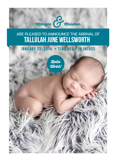 birth announcements - Hello New World! by selk