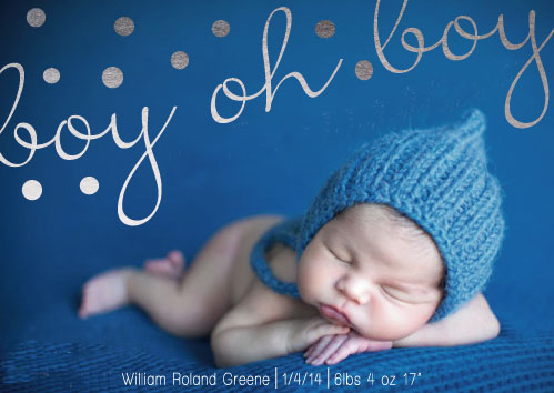 birth announcements - Boy oh Boy! by g ink