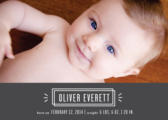 birth announcements - Bold Lines by designedbyjaclyn