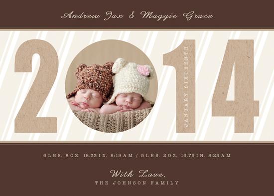 birth announcements - Peek a boo Twenty Fourteen by Elena Ferdinand