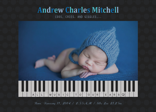 birth announcements - Music to our Ears by Elena Ferdinand