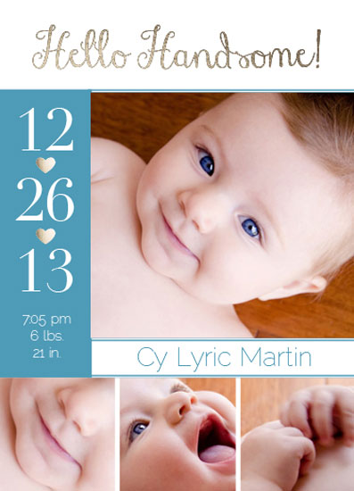 birth announcements - Hello Handsome by Courtney