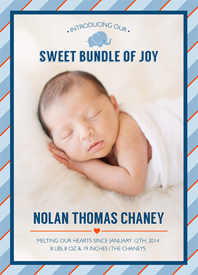 birth announcements - Sweet Bundle of Joy by Nichole Chaney