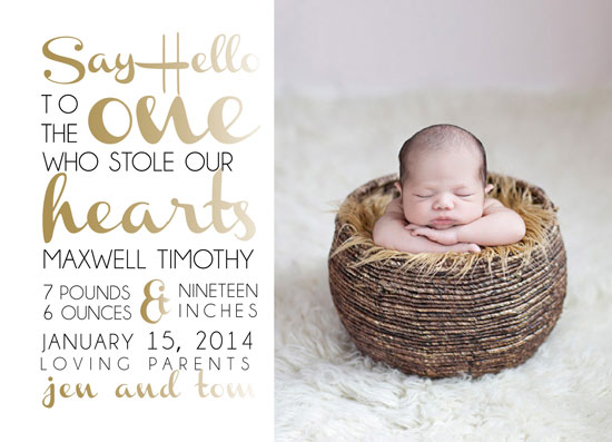 birth announcements - Stole Our  Heart by Barbara Caruso