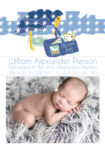 birth announcements - Blizzard Boy by MK Colling