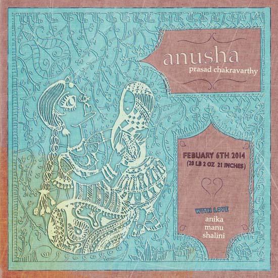 birth announcements - Madhubani Baby by DeSha Creative