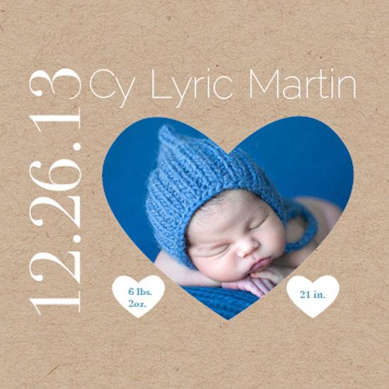 birth announcements - Krafty Hearts by Courtney