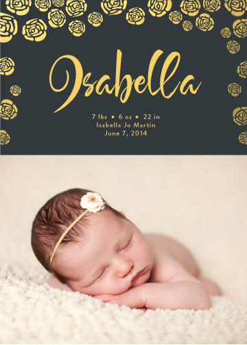 birth announcements - Golden Girl by Andrea Castek