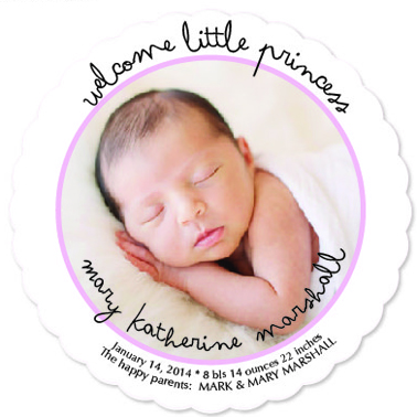 birth announcements - Pink Princess by Sally M. Olivier