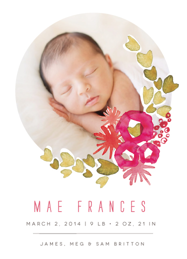 birth announcements - sweet blossom by Kelly Ventura
