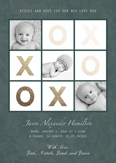 birth announcements - Tic Tac Toe by Elena Ferdinand