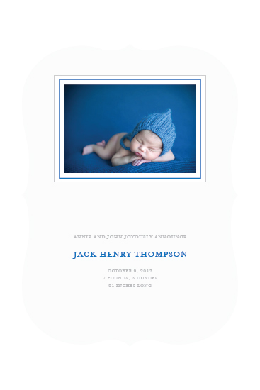 birth announcements - Baby Blue by Lily Lasuzzo