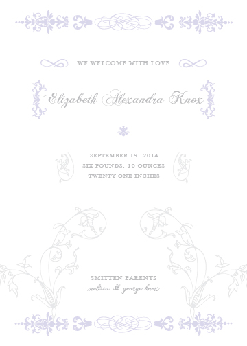 birth announcements - Floral Script by Lily Lasuzzo