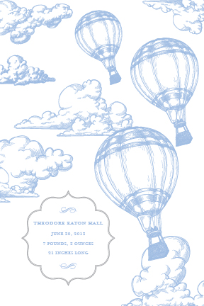 birth announcements - Up Up and Away by Lily Lasuzzo