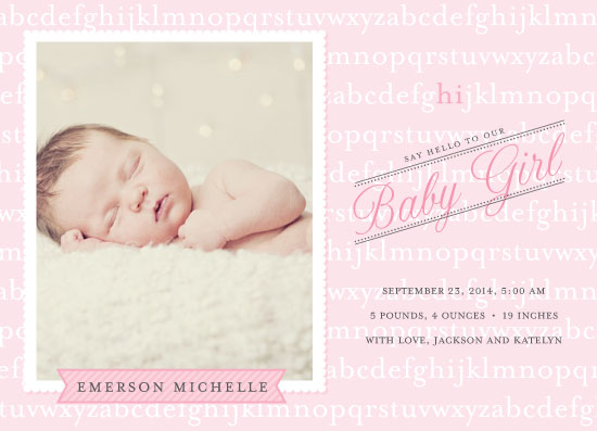 birth announcements - Hello Baby Girl by Simon and Kabuki