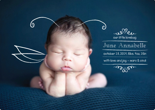 birth announcements - lovebug by marc david rapoza