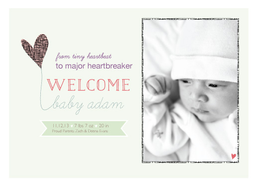 birth announcements - Tiny Heartbeat to Major Heartbreaker by Ayah Oweis