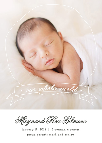 birth announcements - Our Whole World by Amanda Nicholson