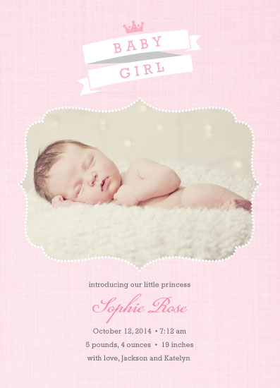 birth announcements - Sweet Princess by Simon and Kabuki