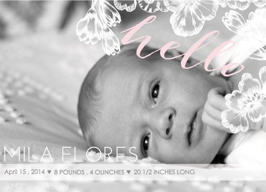 birth announcements - flower by PAPERlicious