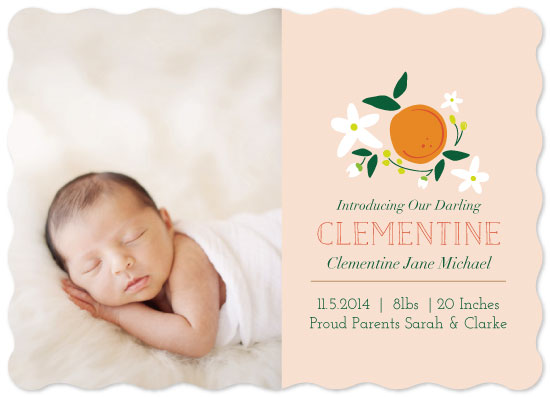 birth announcements - Darling Clementine by Nazia Hyder
