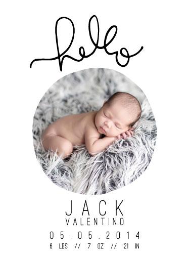 birth announcements - HelloHello by DESIGN X FIVE