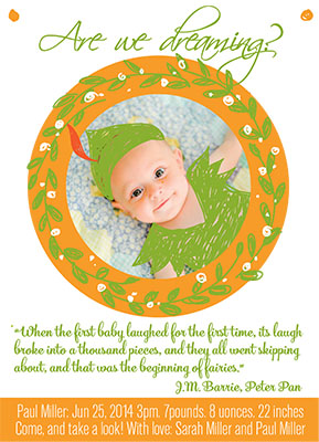birth announcements - peter pan by Barbara Treszner