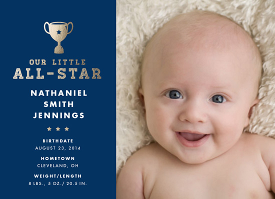 birth announcements - Our Little All-Star by Keen Peachy