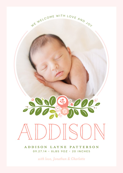 birth announcements - Floral Bough by Jessica Williams