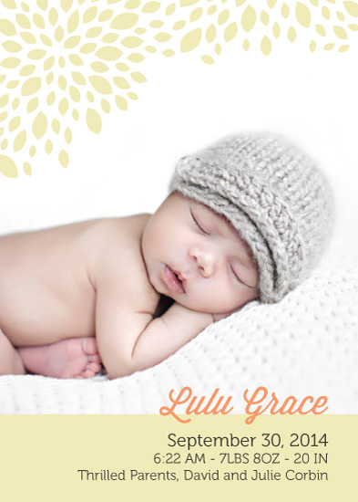 birth announcements - petals by UnaBee
