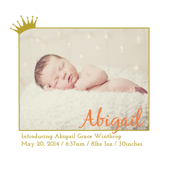 birth announcements - royal by UnaBee