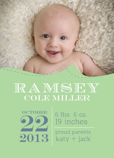 birth announcements - Simply Perfection by ArtfulHappiness