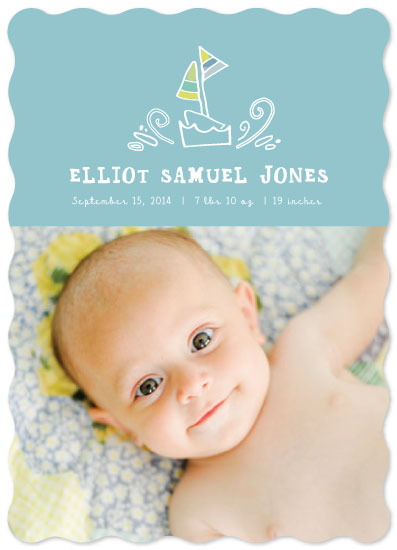 birth announcements - Smooth sailing by Peridot Design