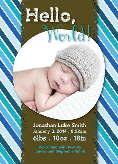 birth announcements - No Baby Blues by Kim Swart